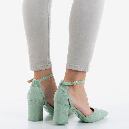 Насоси із зеленого вирізу на високій посаді Час партії - Взуття 1