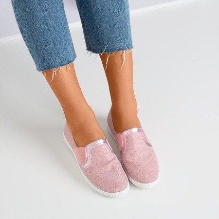Ніжно-рожеві сліпони з блиском Enida - Взуття