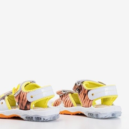 Оранжеві та жовті дитячі босоніжки Jamie - Взуття