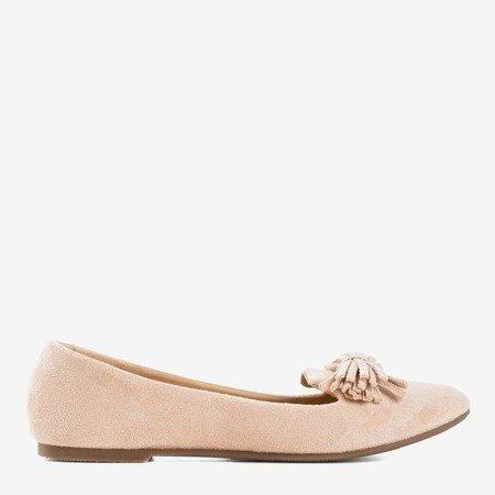 Рожеві балетки з оздобленням Fralise - Взуття 1