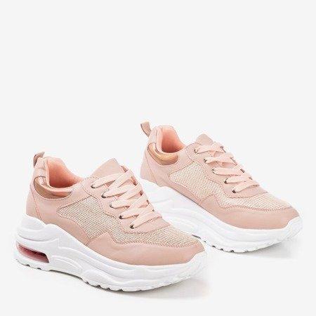 Рожеві жіночі спортивні кросівки з голографічними вставками з пігулок - Взуття 1