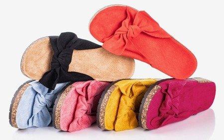 Рожеві жіночі тапочки з бантом від сонця та веселощів - Взуття