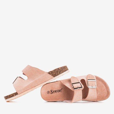 Рожеві жіночі шльопанці з пряжками Selemaia - Взуття 1