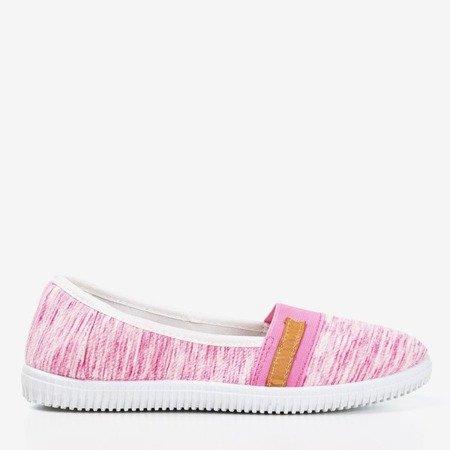 Рожеві кросівки на слипоні в смужку Arimida - Взуття