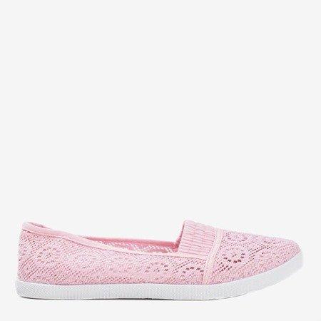 Рожеві накладні мереживні балерини Noremies - Взуття