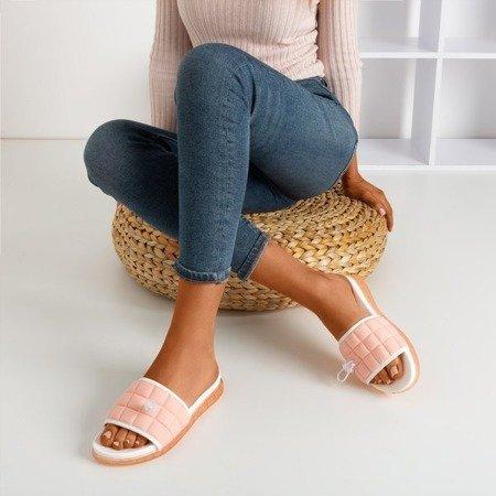 Рожеві стьобані тапочки Pixa - Взуття 1