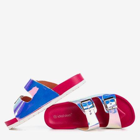 Рожеві шльопанці з голографічною обробкою Sumire - Взуття 1