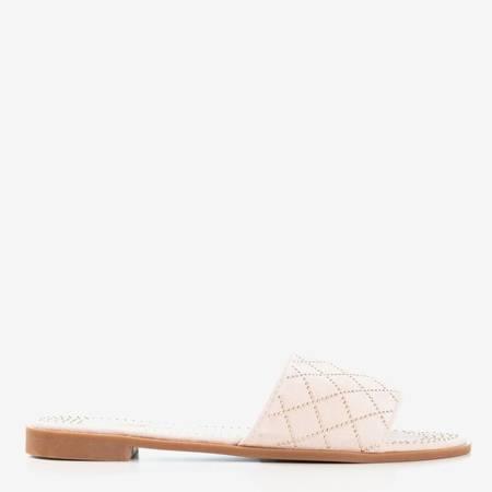 Рожеві шльопанці з золотими струменями Біллі - Взуття 1