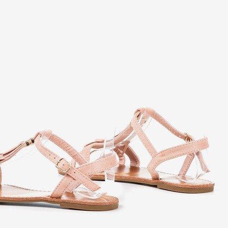 Світло-рожеві босоніжки з бахромою Minikria - Взуття 1