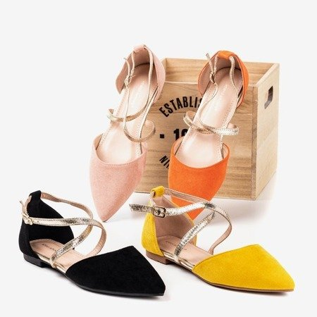 Світло-рожеві жіночі балетки на плоских підборах Vosia - Взуття 1