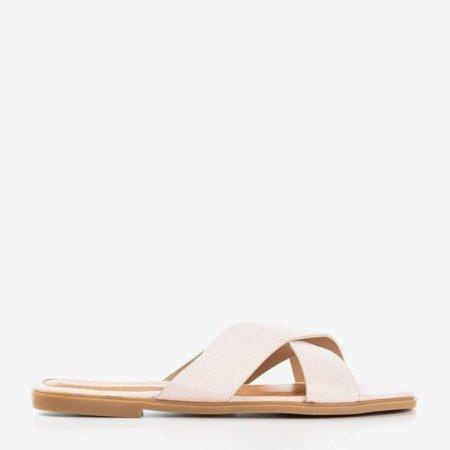 Світло-рожеві жіночі шльопанці Kurula - Взуття 1