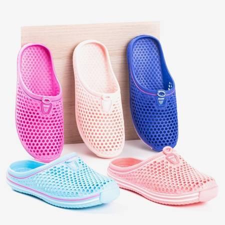 Світло-сині жіночі гумові тапочки Gumi - Взуття 1