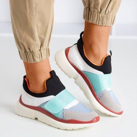 Синє спортивне взуття з різнокольоровими вставками Mendora - Взуття 1