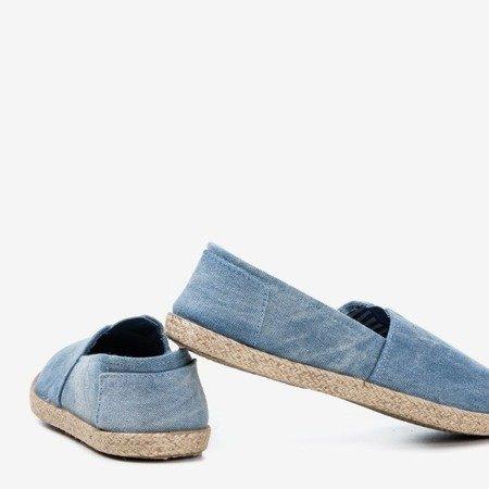 Сині тканинні еспадрільї на аля-джинсах Timsaio - Взуття