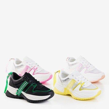 Спортивне взуття біло-жовтого кольору Evanile - Взуття