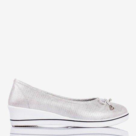 Срібна балерина на клині Морія - Взуття 1