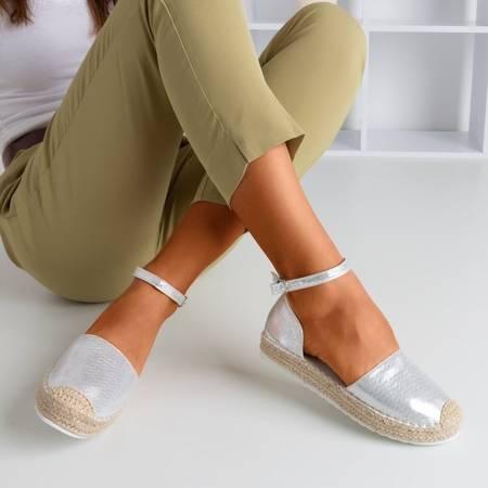 Срібні жіночі еспадрили на платформі Citiva - Взуття 1