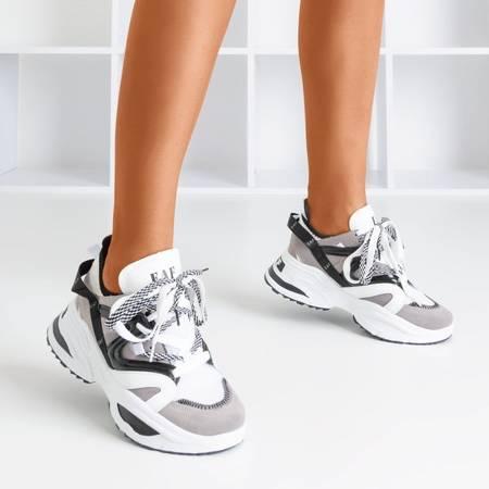 Сірі жіночі кросівки з товстою підошвою Eafi - Взуття