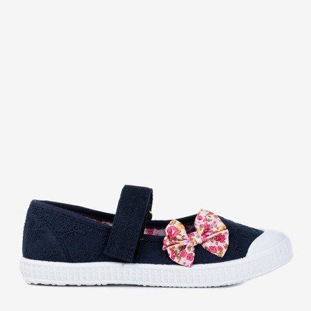 Темно-сині дитячі кросівки з бантом Gloriane - Взуття