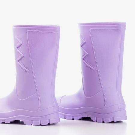 Фіолетові матові гумові чоботи дощу Taif - Взуття