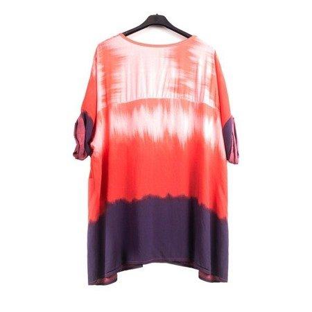 Червона туніка зі срібними написами - Блуза 1