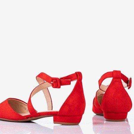Червоні босоніжки на низьких підборах Філадельфія - Взуття 1