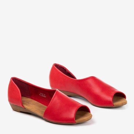 Червоні жіночі босоніжки на низькому клині Іриніс - Взуття 1