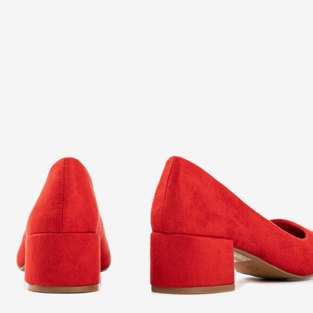 Червоні насоси на низькій посаді Amee - Взуття 1