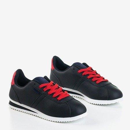 Чорне жіноче спортивне взуття з червоними вставками Dramena - Взуття