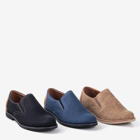 Чорне чоловіче взуття з ажурним Лонбергом - Взуття