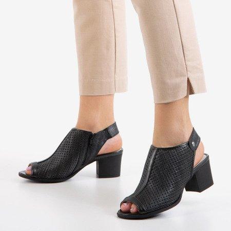 Чорні ажурні босоніжки на пості Katina - Взуття 1