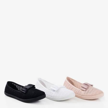 Чорні ажурні кросівки з бантом Nadin - Взуття