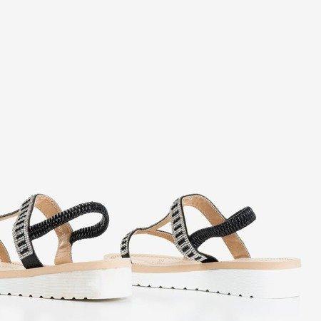 Чорні босоніжки з прикрасами Forsola - Взуття