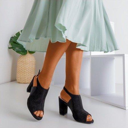 Чорні босоніжки на високих підборах Bartom - Взуття
