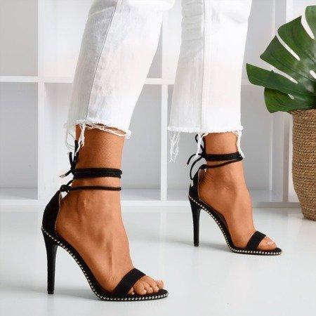 Чорні босоніжки на високих підборах Taya - Взуття