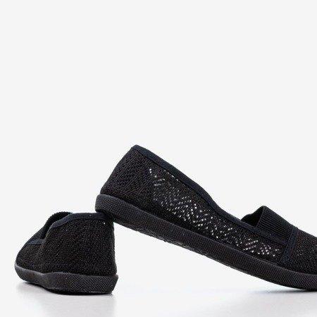 Чорні жіночі балетки з мереживним декором Francis - Взуття 1