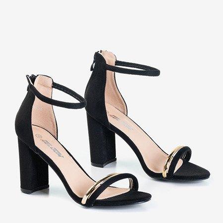 Чорні жіночі босоніжки на високих підборах Callisia - Взуття
