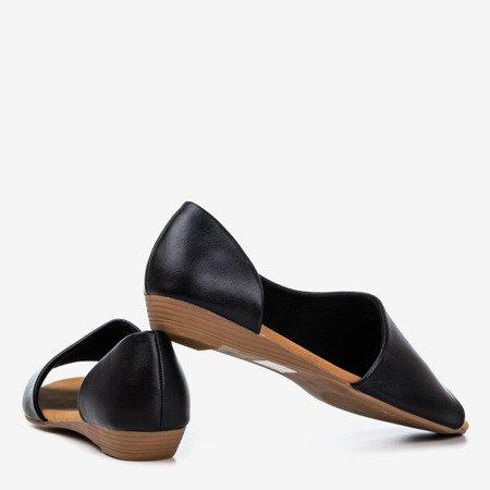 Чорні жіночі босоніжки на низькому клині Irynis - Взуття 1