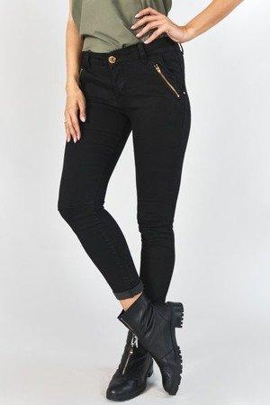 Чорні жіночі джинсові штани на блискавці - Одяг 1