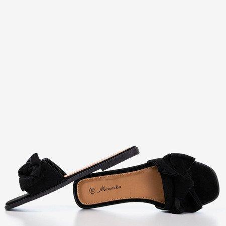 Чорні жіночі тапочки з бантом Mirena - Взуття 1