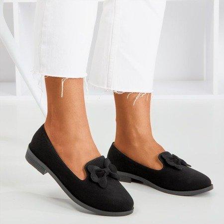 Чорні мокасини з бантиком Флавіса - Взуття 1