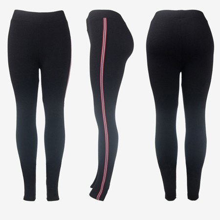 Чорні спортивні гетри з штанами - Штани 1