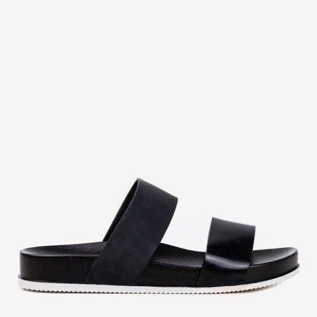Чорні тапочки на ремінцях Віста - Взуття