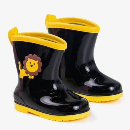 Чорні та жовті дитячі прихватки Smiley - Взуття 1