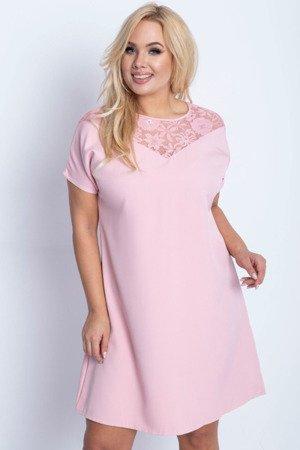 мереживне плаття Pink PLUS SIZE - Сукні 1