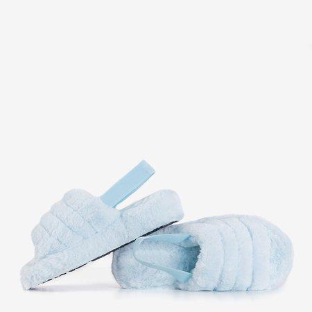Блакитні жіночі хутряні тапочки Fornax - Взуття