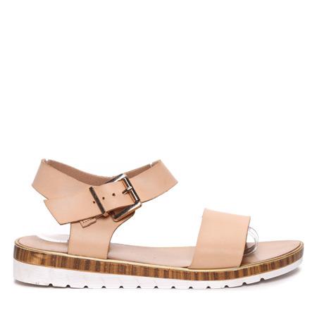 Beżowe sandałki Julie- Obuwie