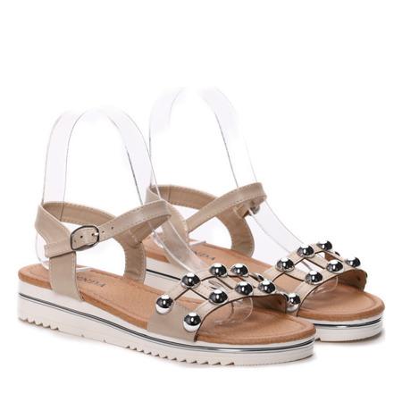Beżowe sandały - Obuwie