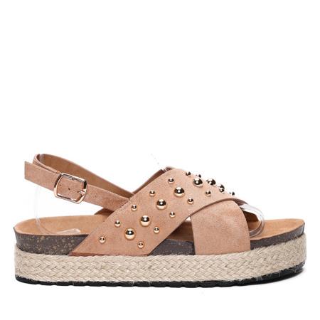 Brązowe sandały- Obuwie
