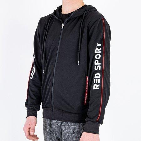 Чоловіча чорна толстовка з капюшоном - Спортивна кофта